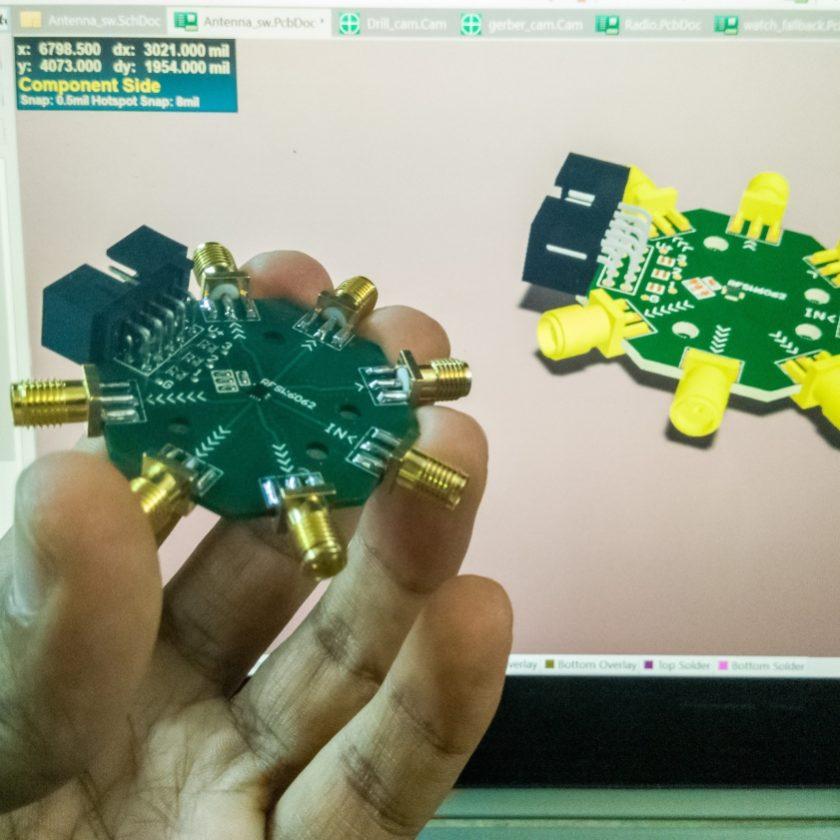Aditya Mukherjee SP6T Wideband RF Switch
