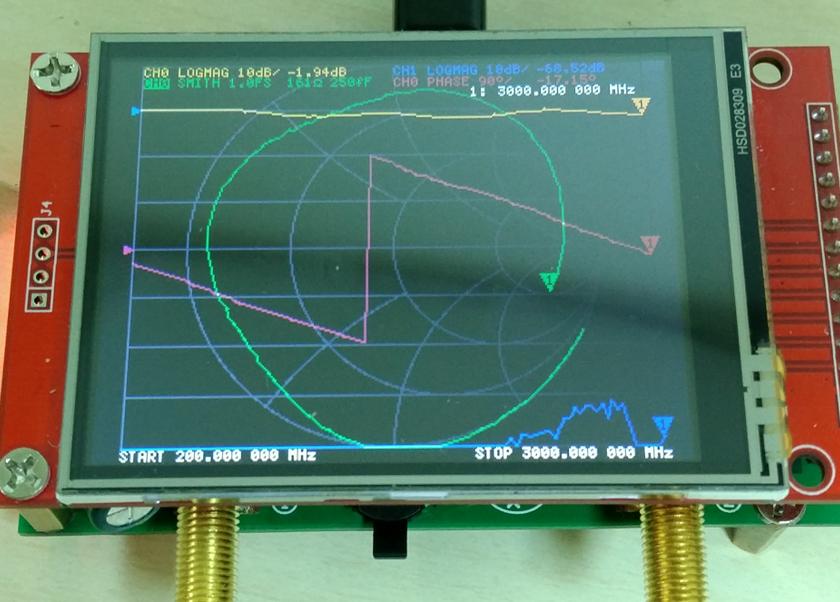 NanoVNA 2.0 display