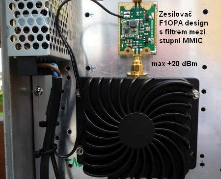 Two cheap QRP PAs for the 2.4 GHz uplink satellite QO-100