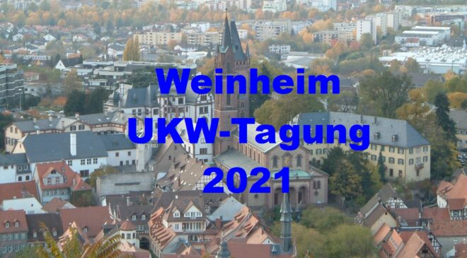 66th UKW-Tagung Weinheim goes virtaual-only